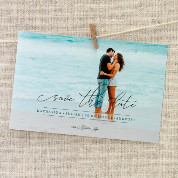 Save-the-Date Vorlage Foto-Overlay: Design 3