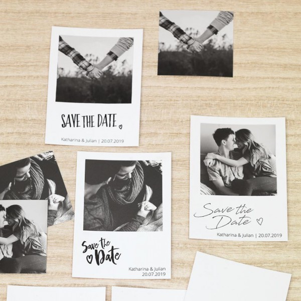 DIY Save-the-Date-Karten-Vorlagen als Polaroid