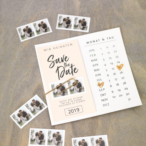 DIY Save-the-Date-Karten-Vorlage mit Kalender