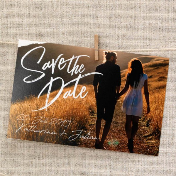 Save-the-Date Vorlage Foto-Overlay: Design 1