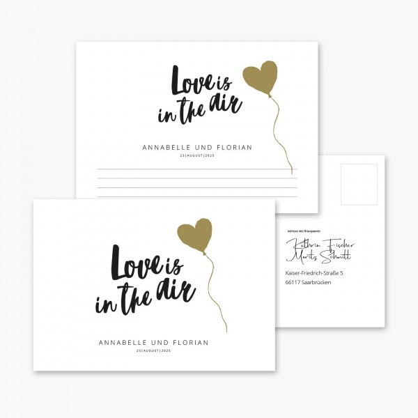"Ballonkarten Hochzeit ""Love is in the Air"" Brush"