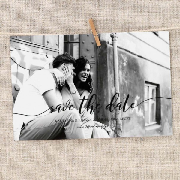Save-the-Date Vorlage Foto-Overlay: Design 2